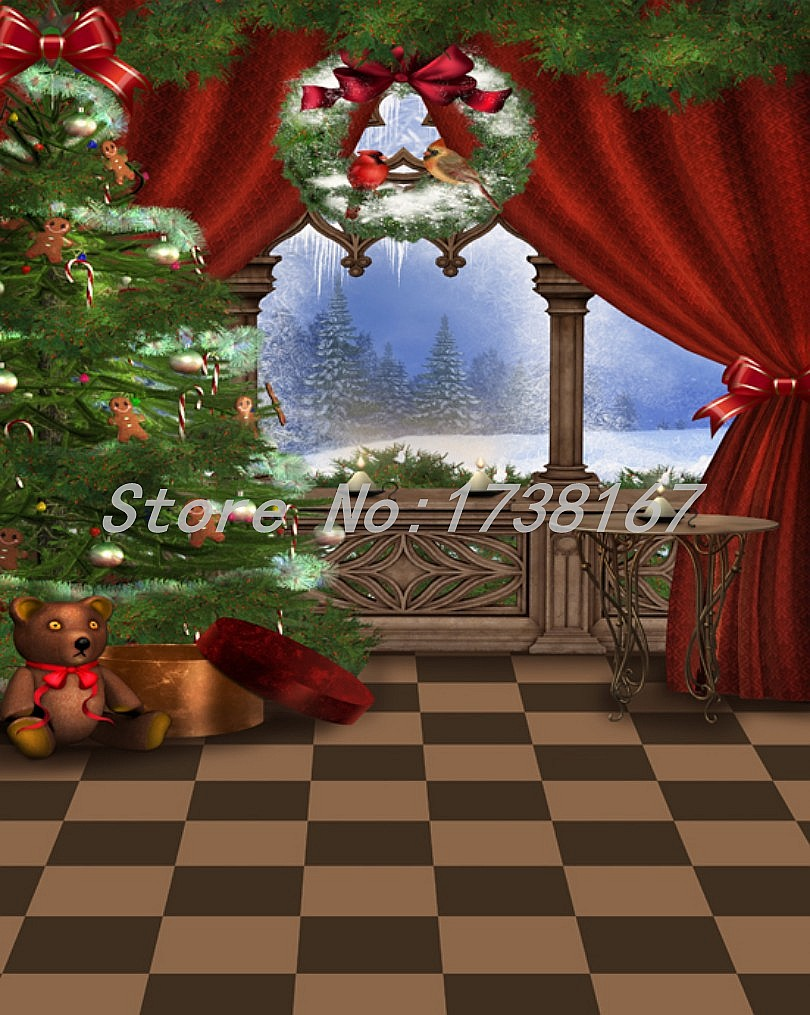 2015 New Newborn Photography Background Christmas Vinyl Photografia Backdrops 200cm *300cm Hot Sell Photo Studio Props Baby L828<br>