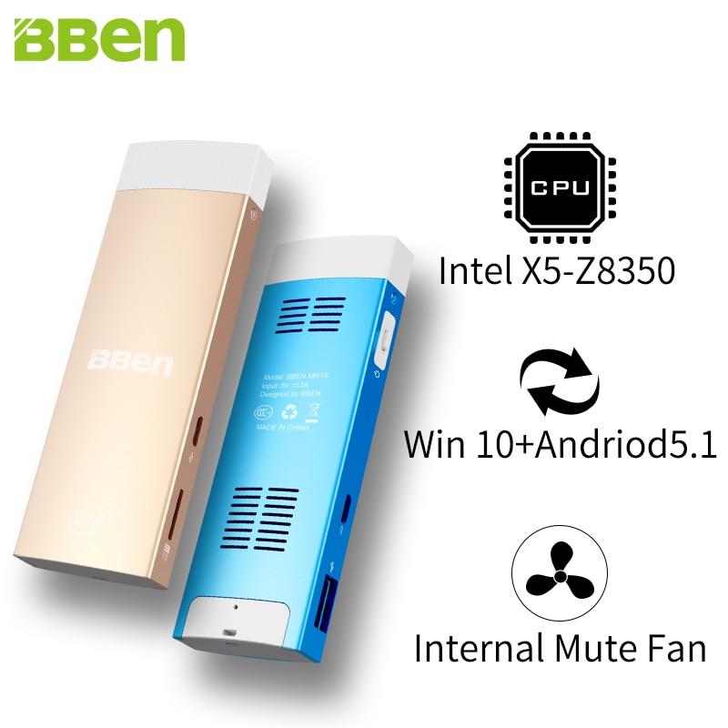 BBEN MN1S Mini PC Windows 10 and Android 5.1 Intel Z8350 Quad Core 2G+32G HDMI Dual WiFi BT4.0 USB3.0 TF Slot Micro PC Computer<br><br>Aliexpress