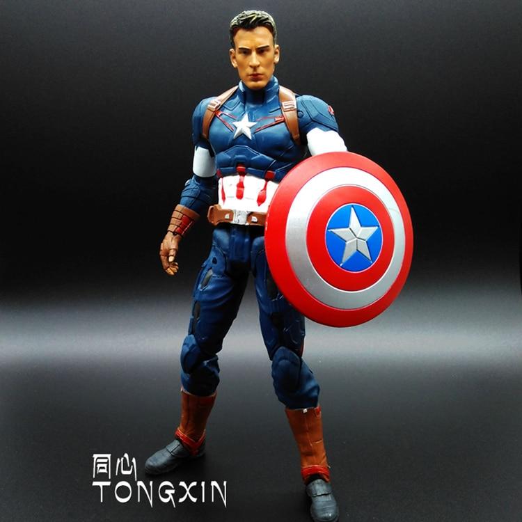 SAINTGI Marvel Captain America Civil War Avengers Super Heroes PVC 25cm Action Figure Collection Model Toys T625<br>