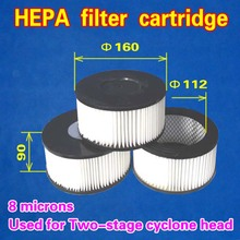 HEPA filter cartridge 160*90 (Used for Two-stage cyclone head) 8 pieces(China)