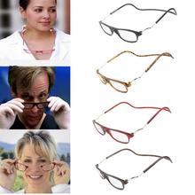 1Pc High Quality Magnetic Reading Glasses Men Women Hanging Neck Folding Glasses +1.0 +1.5 +2 +2.5 +3 +3.5 +4