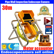 security endoscope pipe inspection camera waterproof  12pcs led lights dvr video recording with keyboard function 30M