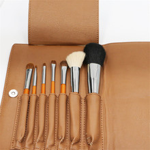 Excellent Quality Makeup Brushes Set 7pcs Goat Hair Wood Handle Make up Brush with Pu Bag Professional Makeup Tool
