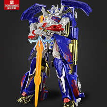 35CM Movie Characters Model Big-size Bumblebee Zinc alloy + Plastic Toy Deformation Robots Toys Boy Birthday Gift(China)