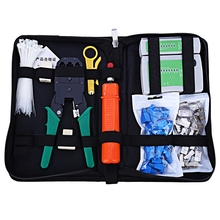 Network Computer Maintenance Repair Tool Kit Cable Tester Cross/Flat Screwdriver Crimper Pliers Rj45 Cat5 Cat5e Connector Plug