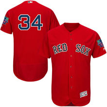 MLB Men's Boston Red Sox David Ortiz Alternate Scarlet Flex Base Retirement Patch Authentic Jersey