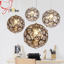 dia 40/50cm Modern Stainless Steel ball Pendant lights,sliver/gold/rose gold Hanging lamp lighting fixture for restaurant cafe(China)