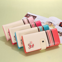 Lovely Wallet Women Wallets Cartoon Long Purse Handbag Faux Leather Ladies Card Holder Purse Clutch Carteira Portefeuille(China)