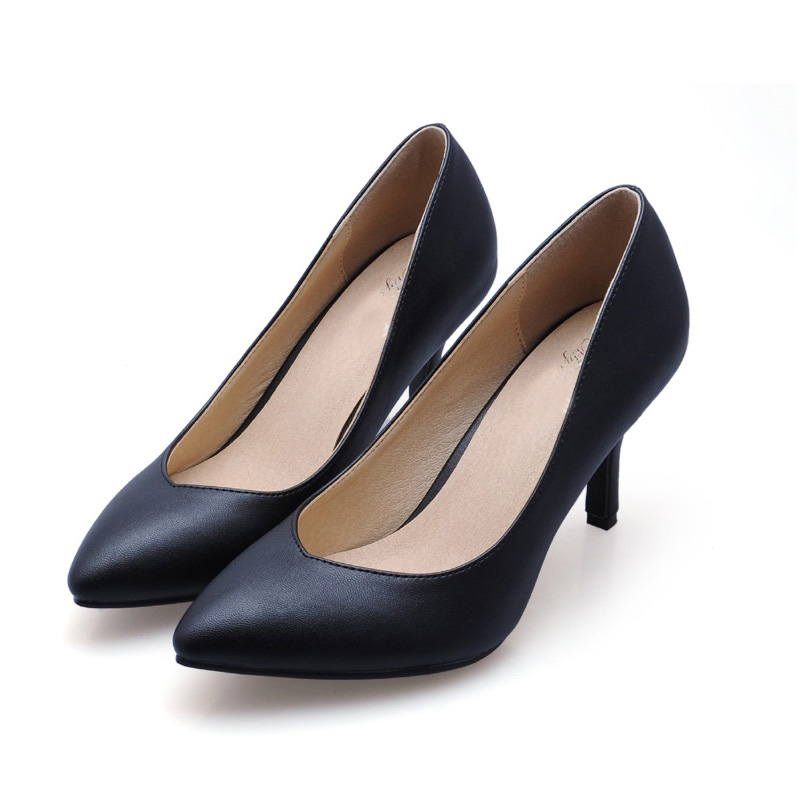 New 2017 Size 33-41 Sheepskin Black Sexy Pointed Toe Chaussure Femme Talon Women Pumps Ladies Shoes Woman Chaussure Femme<br><br>Aliexpress