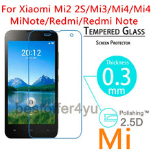 For Xiaomi Mi2 2S/Mi3/Mi4/Mi 4i/Mi Note/Hongmi Redmi/Redmi Note 0.3mm 2.5D Toughened Tempered Glass Film Screen Protector Cover