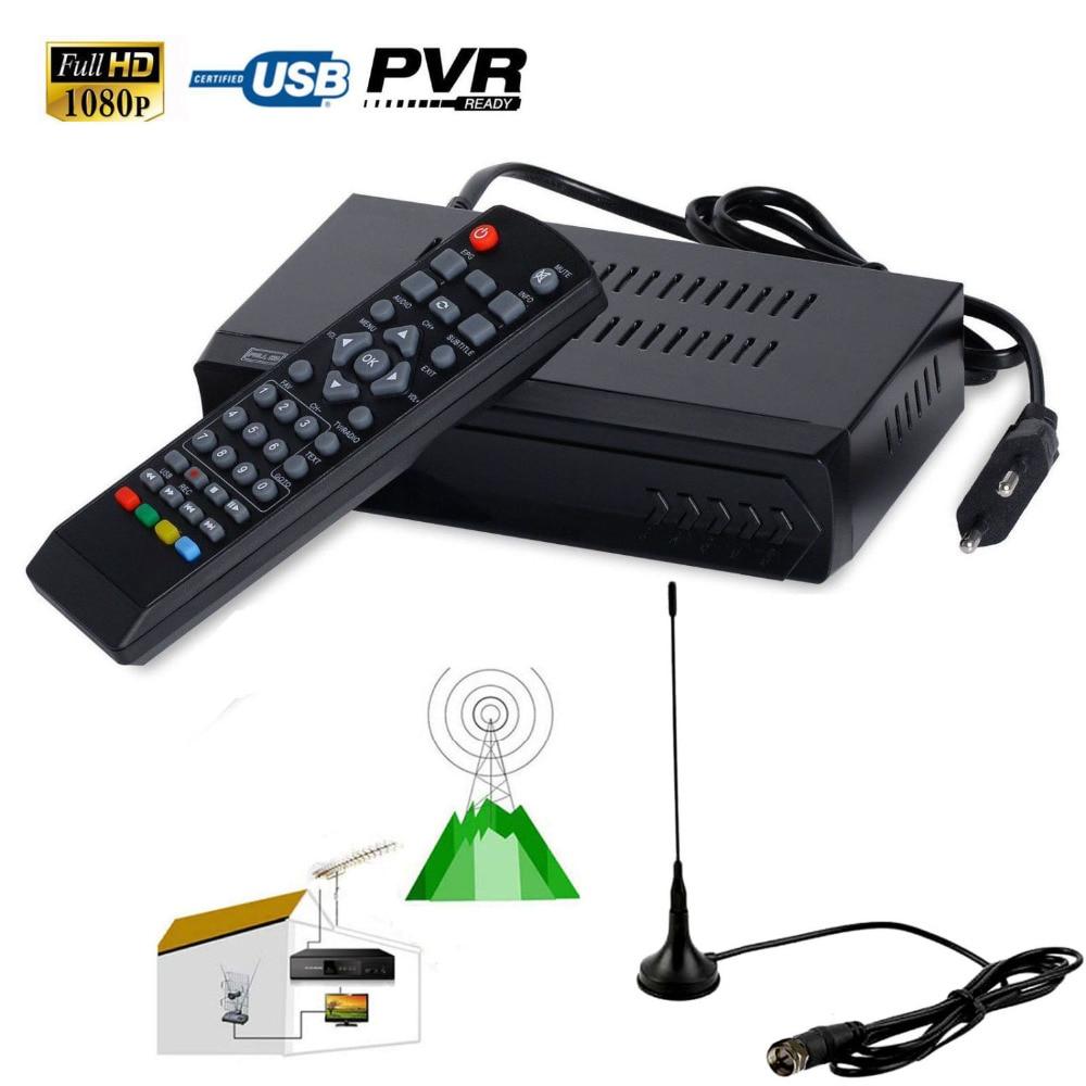 FTA HD 1080P ISDB-T H.264 Definition Digital Terrestrial TV Receiver SET TOP BOX Support USB PVR HDMI + UHF VHF Indoor Antenna<br>