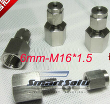 free shipping  2pc/lots for 6mm-M16*1.5  stainless steel female compression fittings stainless steel elbow connectors
