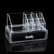 Free Shipping Brand New Cosmetic Holder Large Drawer Jewelry Chest Makeup Acrylic Case Organizer Set