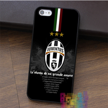 Italian Serie A Juventus Football Club fashion cell phone case for iphone 4 4s 5 5s 5c SE 6 6s 6 plus 6s plus 7 7 plus #LI1558