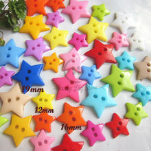 150pcs mixed 3 sizes (12mm,16mm,19mm) colorful 5-pointed star decorative buttons plastic craft scrapbooking accessories