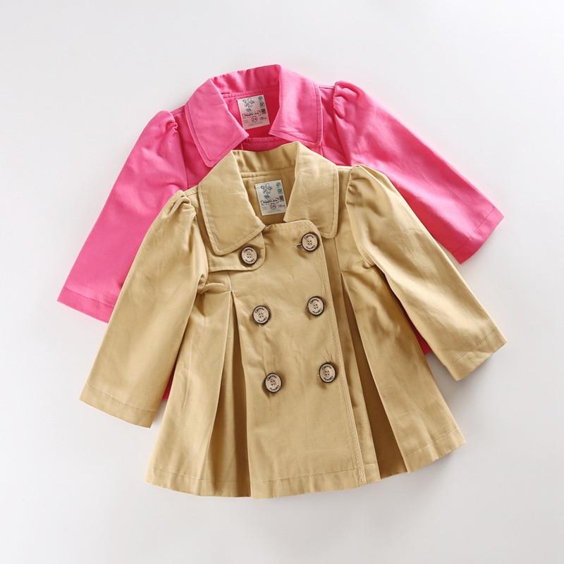 Winter Jackets Girls Coat 2017 Brand Children Jackets Kids Winter Clothes Double-breasted Windbreaker Girls Trench Coats outwear<br><br>Aliexpress