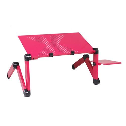 NOCM-Red Adjustable Vented Laptop Tablet Book Desk Portable Bed Tray Stand Table<br>