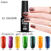 Zation Varnish Metal Top Base Coat Enamel Lacquer Crack Nail Gel Crackle Gel Cracking Nail Polish Photography Gel Polish Primer(China)