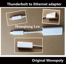 Thunderbolt to Gigabit Ethernet cable adapter Thunderbolt to ethernet adapter cable for mac book pro air Used(China)
