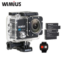"Wimius 4K WIFI Sports Action Camera Ultra HD Waterproof DV Camcorder 16MP 170 Angle 2""LCD Cam 2.4G Remote Control 2 Batteries(China)"