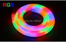 Flex RGB LED Neon Light flexible strip 80leds/m Waterproof IP68 AC110V 220V(China)