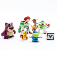 Disney Toys 8pcs/Lot 5-12cm Toy Story 3 Buzz Lightyear Woody Jessie Bullseye PVC Action Figure Collectible Model Toy Kids Gifts