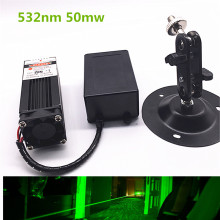 50mw 532nm Green Laser Module 12V DC Input Room Escape/ Maze props/ Bar dance Lamp(China)
