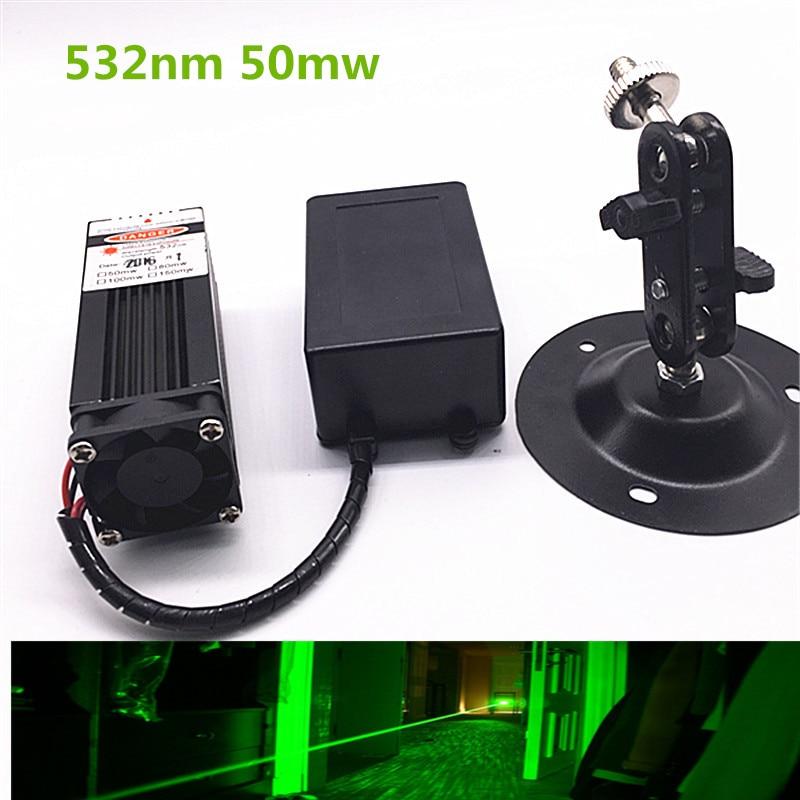 50mw 532nm Green Laser Module 12V DC Input  Room Escape/ Maze props/ Bar dance Lamp<br>