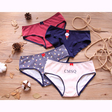 Buy 2018 Girls Underwear 4pc/lot lovely 95% cotton panties Waist Briefs Young Girl teenagers Pants children students Lollipop