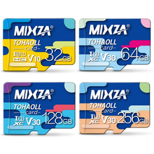 MIXZA Carte Mémoire 256 gb 128 gb 64 gb U3 80 mb/s 32 gb Micro sd carte Class10 UHS-1 flash carte Mémoire Microsd TF/SD Cartes pour Tablet(China)