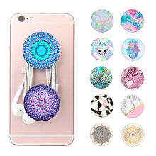 Buy Opal Marble Pop Expanding Mobile Phone Holder Stand Grip iPhone Xiaomi Redmi Round Mandala Alien Socket Finger Ring Mount for $1.38 in AliExpress store