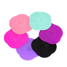 1PCS 6 Colors Silicone Cleaning Cosmetic Make Up Washing Brush Gel Cleaner Scrubber Tool Foundation Makeup Cleaning Mat Pad Tool