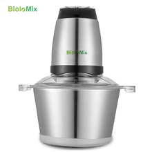 Stainless steel 2L big capacity Automatic Meat Grinder Household Mincer Chopper Food Processor(China)
