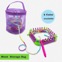 Yarn Case Yarn Storage Baskets Knitting Yarn Round Plastic Bags Portable Lightweight and Easy to Carry for Yarn Project