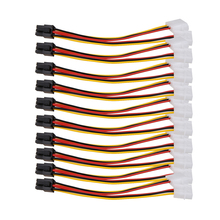 10PCS Molex 4 Pin to PCI-E 6 Pin Power Converter Adapter Cable Connector Wholesale