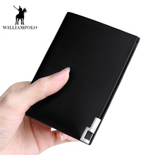 2017 NEW Original Brand Thin Wallet Men 100% Genuine Leather Men Wallets New Business Leisure Purse Men Card Wallet Small bag