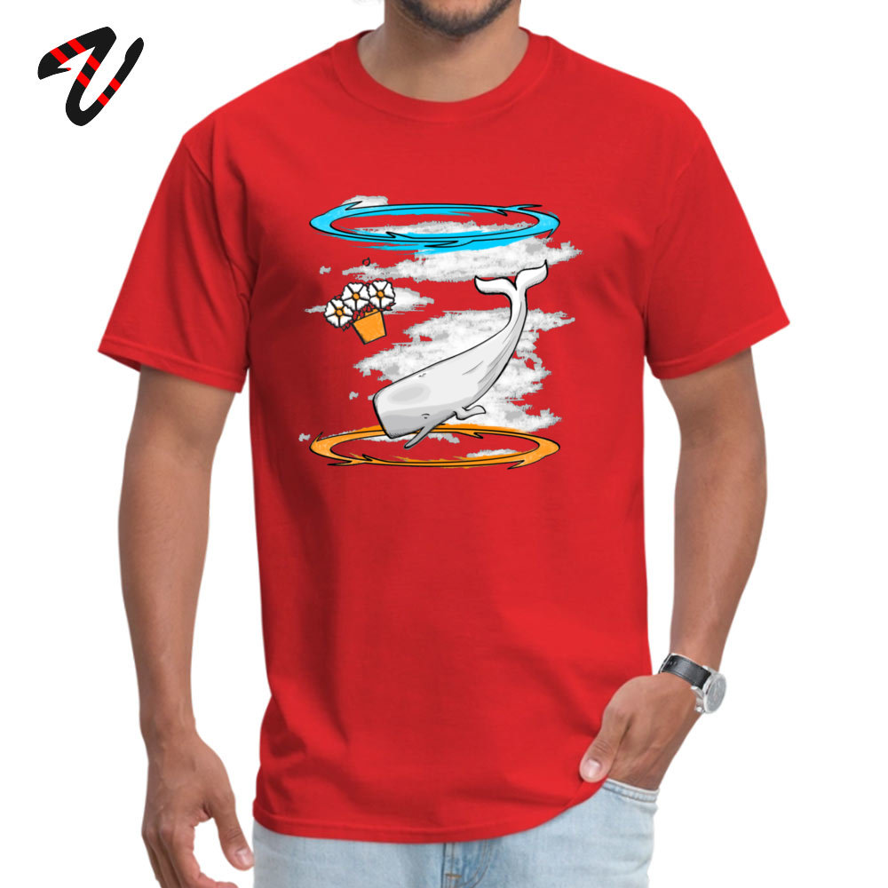 Casual T Shirt 2019 Newest Short Sleeve Men's T Shirts TpicOriginaltitle Camisa Summer Fall Tops & Tees Round Collar Infinite Improbability 9417 red