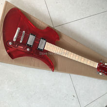 Red acrylic crystal electric guitar, red leds fingerboard, factory wholesale and retail It can customize according to the reques