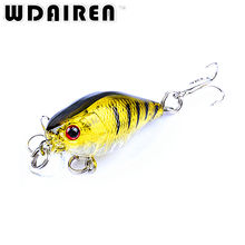 1Pcs 4.3cm 4.3g topwater Crank bait Swim Fishing Lure Wobbler Japan Artificial Hard diving 0.2m Colorful Mini Fishing Crankbait