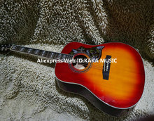 Cherry Burst Hummingbird Acoustic Guitar High Quality Wholesale Guitars Free Shipping