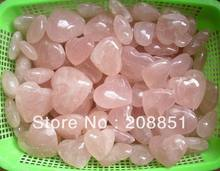 NATURAL ROSE QUARTZ CRYSTAL HEARTS CARVED Wholesales Price,Free Shipping