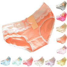 Buy Women Underwear Sexy Lingerie Solid Panties women Multi-Color Cotton Briefs Soft Lace Bow-knot Briefs Knickers