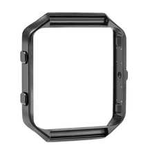 Bemorcabo New Polished Stainless Steel Watch Replace Metal Frame Connect Case Holder Shell For Fitbit Blaze Smart Watch Black