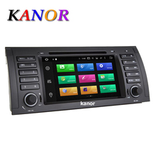 KANOR Android 6.0 Octa Core 2G DDR3 32G ROM Car DVD Player For BMW E39 E53 X5 1024*600 GPS Navigation Capacitive Bluetooth WIFI(China)