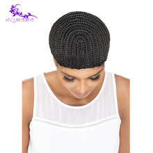 Easier Sew Black Cornrow Braids 1pc/lot Crochet Wig Caps For Making Wigs Elastic Weaving Cap For Glueless Lace Wig Cap Making(China)