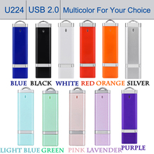 Storage Device USB 2.0 Flash Drives 64GB Pendrive 32GB 128G Multitul Pen Driver Personalized Clef USB Disk Jump Drives 11 Color
