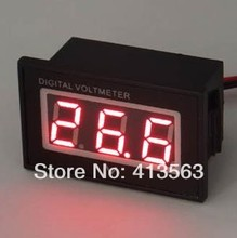 Waterproof 2 Wire 12V Red LED Digital Car Motorcycle battery Monitor Voltmeter #0015