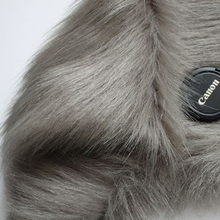 "Dark Gray Shaggy Faux Fur Fabric (long Pile fur) Costumes Fur Coat Fur Collar 36""x60"" Sold By The Yard Free Shipping"