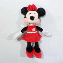 Original Mickey Minnie Plush Toys Baby Girls Doll 35cm Love Angel Dolls Minnie Stuffed Animals Soft Toys For Kids Gifts peluche