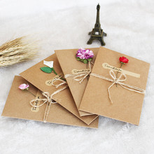 2pcs Kraft Paper Envelope With Invitation Card For Wedding/Wedding Birthday Greeting Card Event & Party Supplies FA2(China)